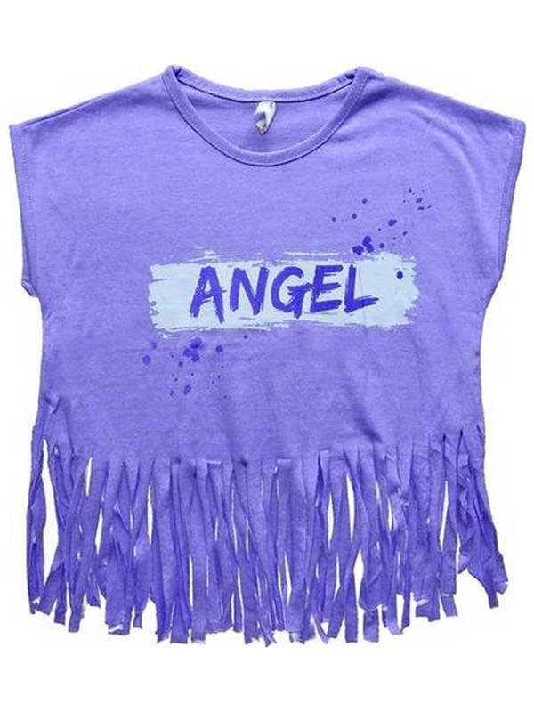2-3-4-5-6-7 yaş püsküllü kız t-shirt yaz rengi 6