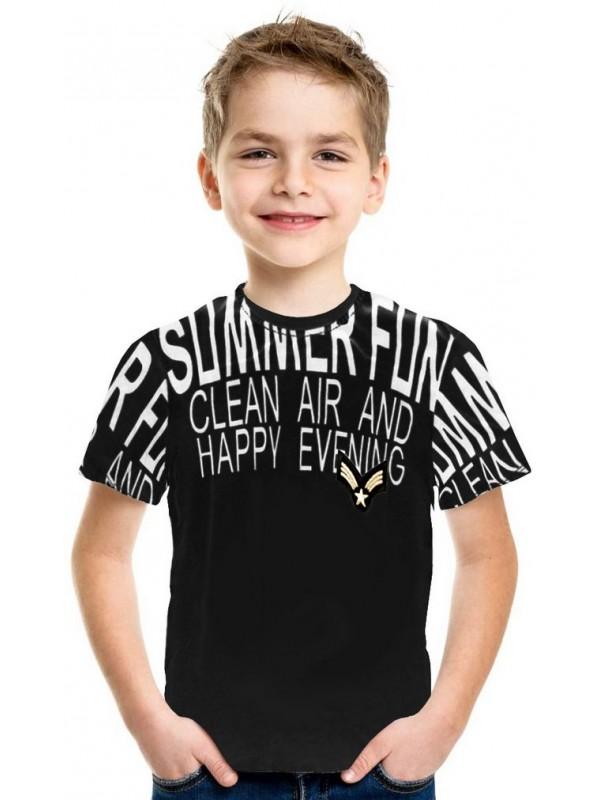 Летняя футболка для мальчиков 5-6-7-8 лет оптом 4Т