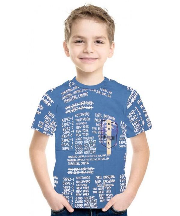 9-10-11-12 летняя летняя футболка для мальчика оптом 4K