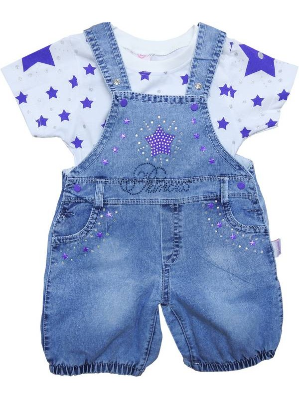 3-6-9 months baby girl t-shirt jeans suit 3code