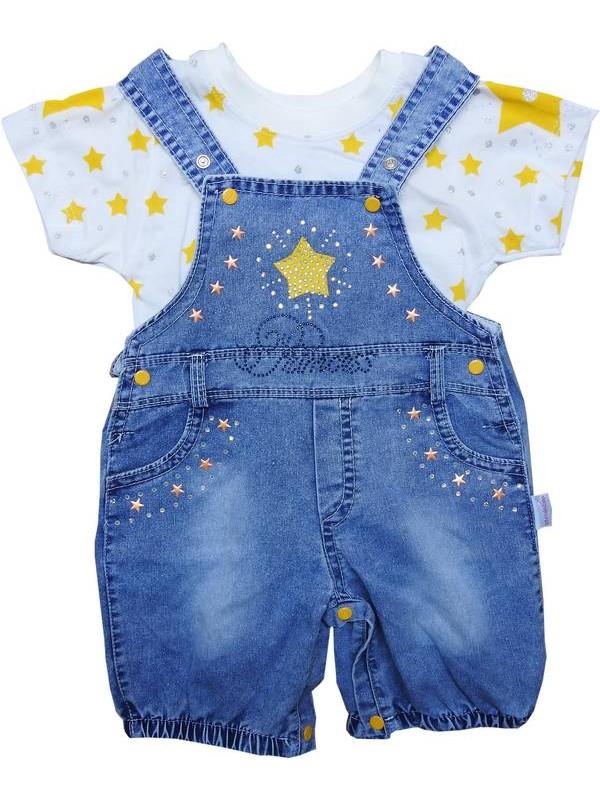 3-6-9 ay kız bebek t-shirt kot takım 4kod