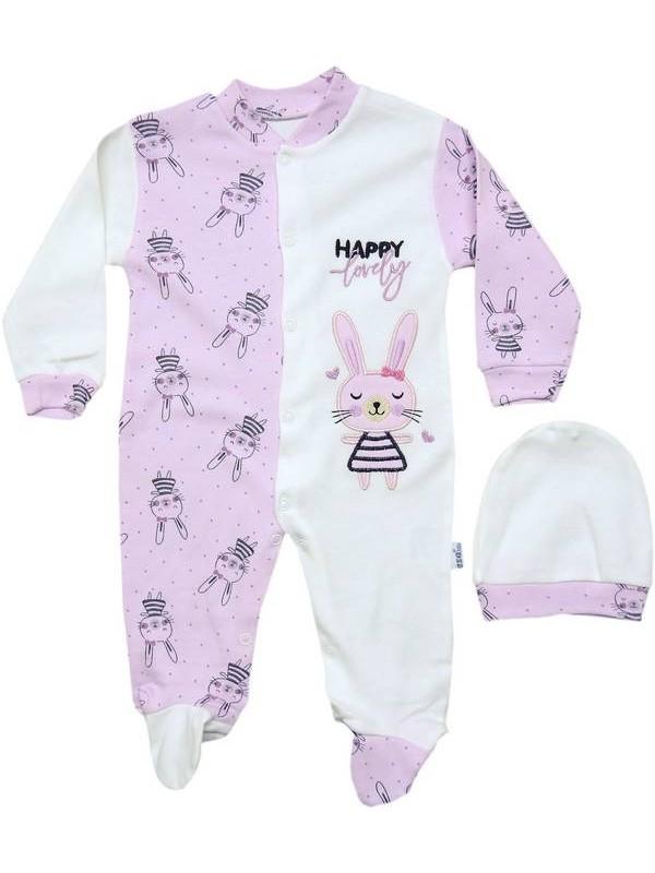3-6-9 ay erkek kız bebek %100 pamuk tulum 16kod