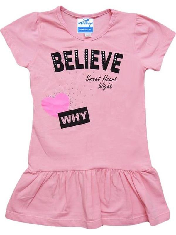 1-2-3-4 age girls tunic t-shirt good quality cheap pink