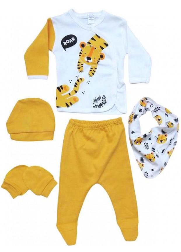 0 - 3 - 6 месяцев костюм для новорожденных одежда с принтом тигра оптом