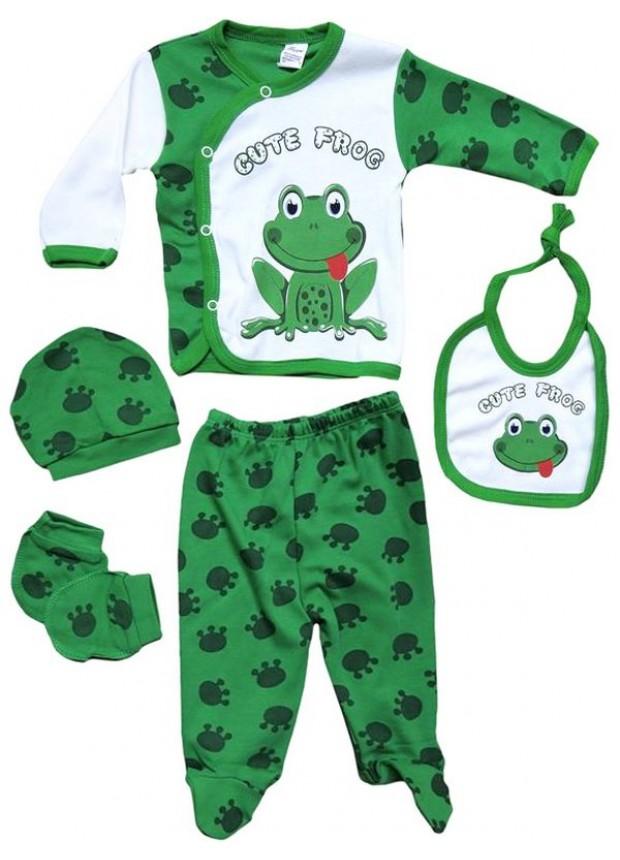 0-3-6 месяцев костюм для новорожденных платье с принтом лягушки оптом