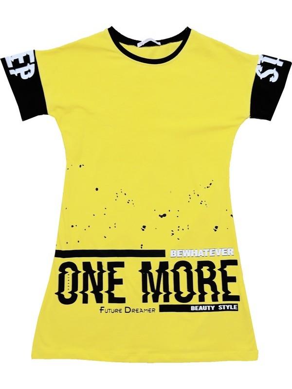 6-7-8-9 years old girls tunic t-shirt wholesale chick yellow