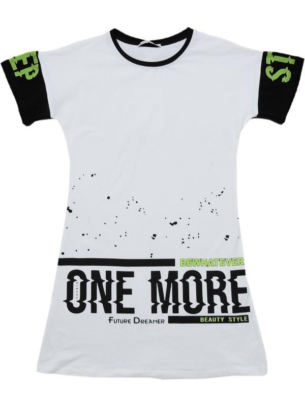6-7-8-9 age girls tunic t-shirt wholesale white