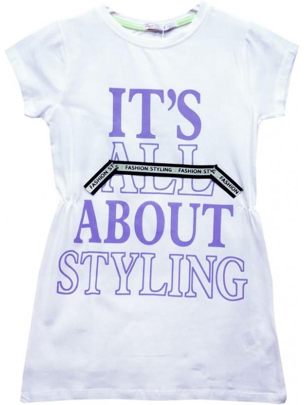 Туника-футболка для девочек 6-7-8-9 лет, платье Model8