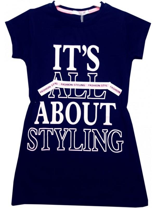 6-7-8-9 age girl tunic t-shirt dress Model7