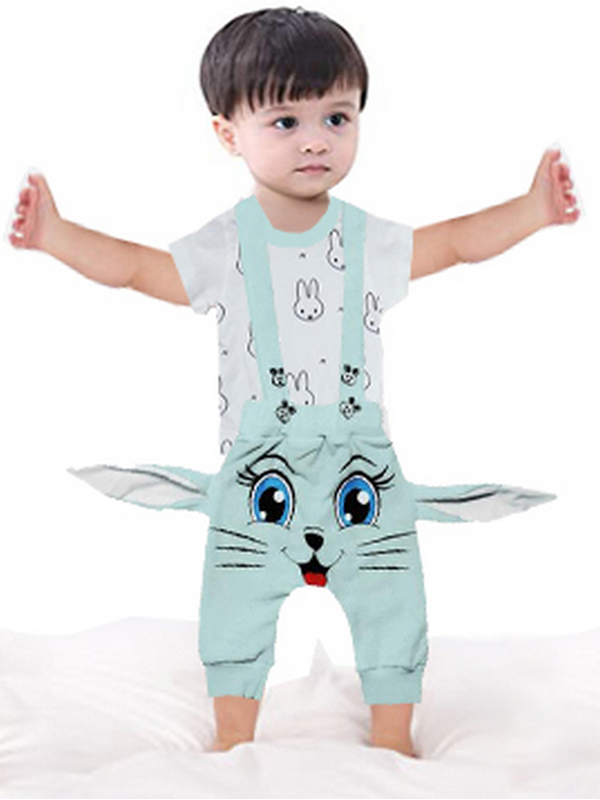 3-6-9 месяцев детская футболка + комбинезон 3М