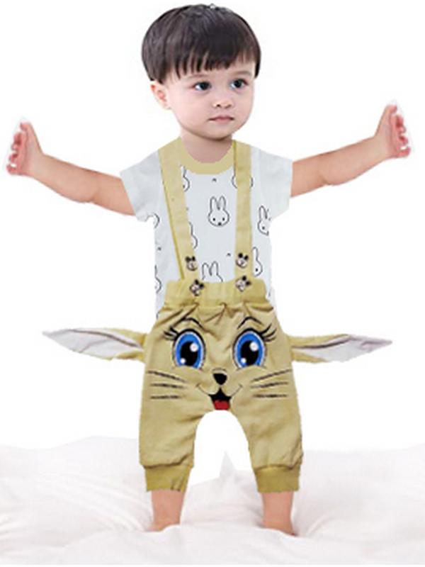 3-6-9 месяцев детская футболка + комбинезон 4М