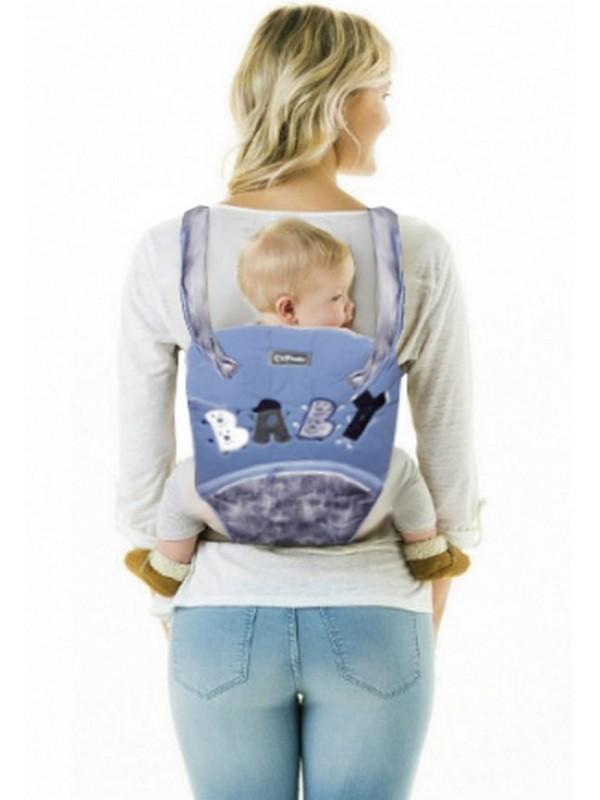 оптом детские рюкзаки кенгуру синий