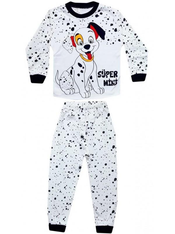 4-5-6 yaş Toptan çocuk pijama takımları dalmaçya köpek baskı