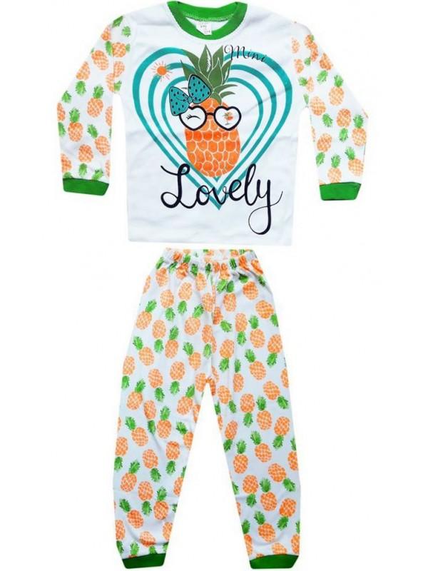 4-5-6 лет оптом детские пижамные комплекты с принтом в виде фруктов ананаса