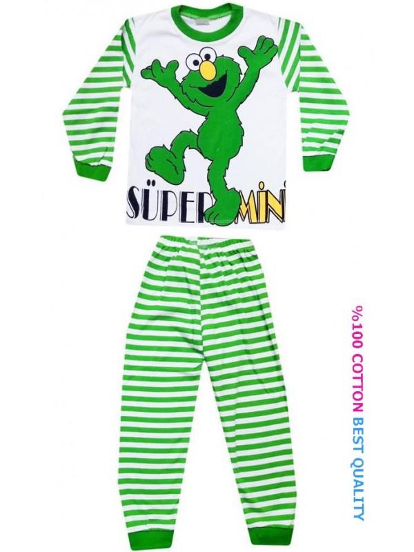 4-5-6 yaş toptan çocuk pijama takımları model1