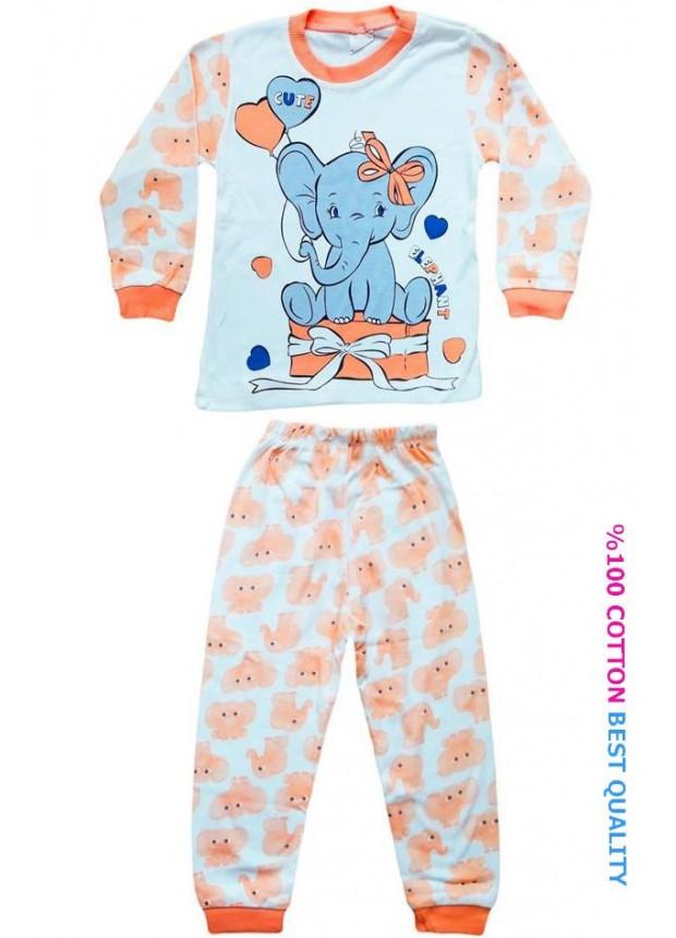 4-5-6 yaş toptan çocuk pijama takımları model5