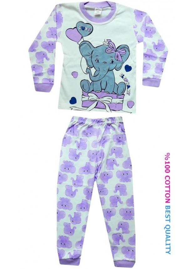 4-5-6 yaş toptan çocuk pijama takımları model6