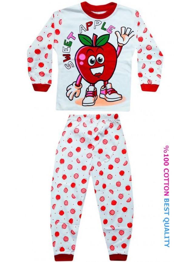 4-5-6 yaş toptan çocuk pijama takımları model7