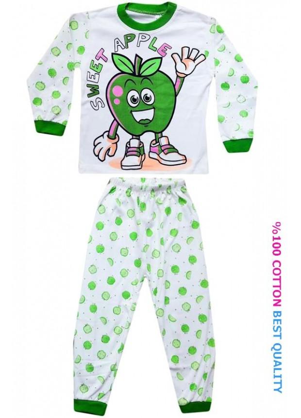4-5-6 yaş toptan çocuk pijama takımları model8