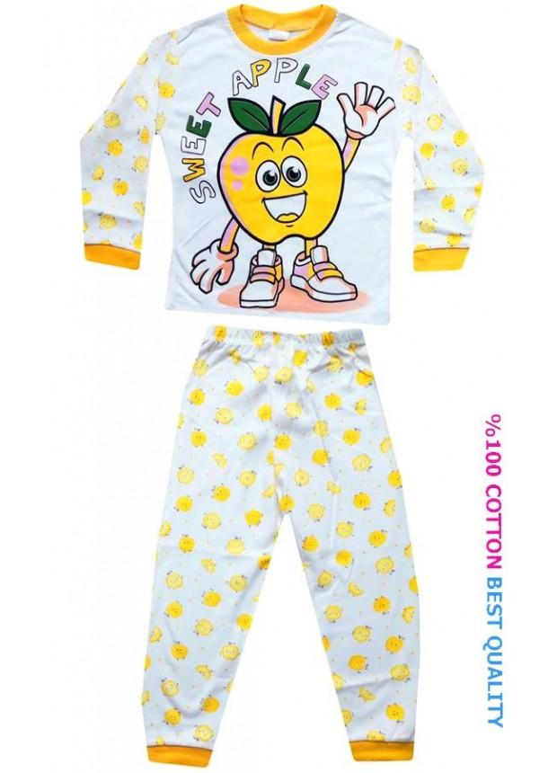 4-5-6 yaş toptan çocuk pijama takımları model9