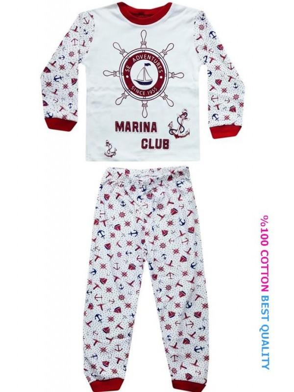 4-5-6 age wholesale children pajamas suit sailor printed model1