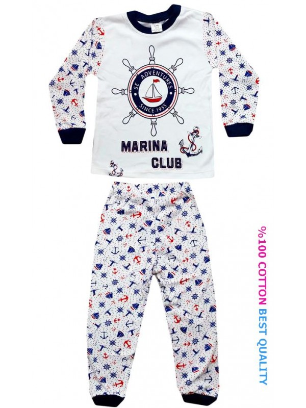 4-5-6 age wholesale children pajamas suit sailor printed model3