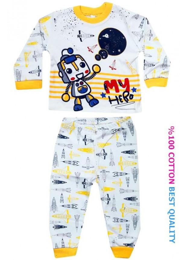 6-9-12 aylık bebek pijama takımı toptan M1