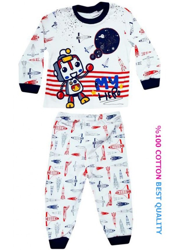 6-9-12 aylık bebek pijama takımı toptan M2