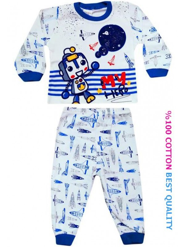 Детские пижамы 6-9-12 месяцев оптом M3