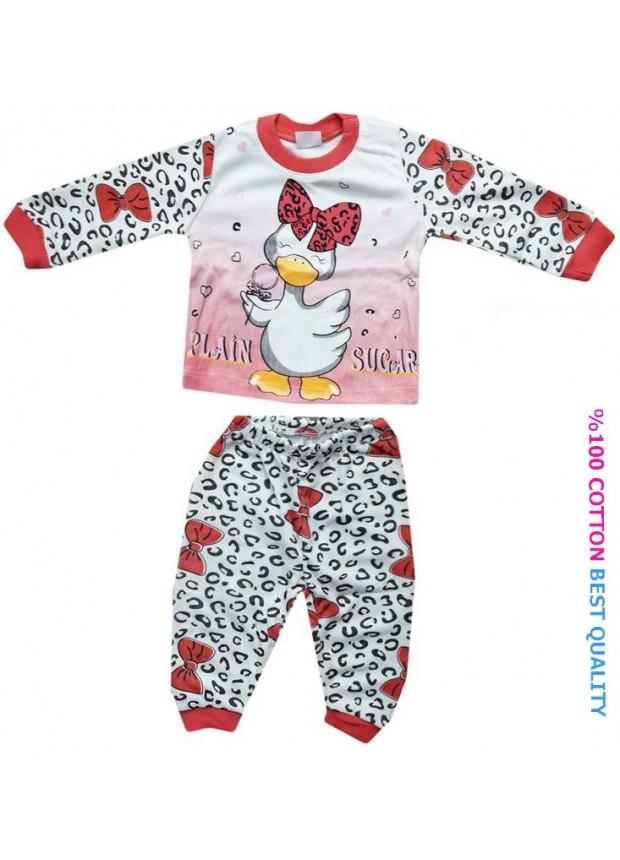 6-9-12 aylık bebek pijama takımı toptan M4