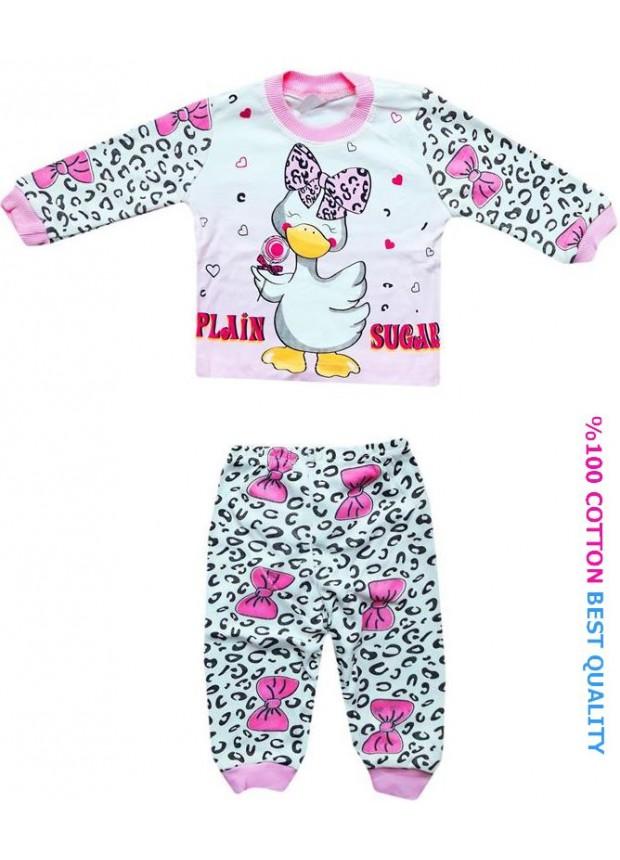6-9-12 aylık bebek pijama takımı toptan M5