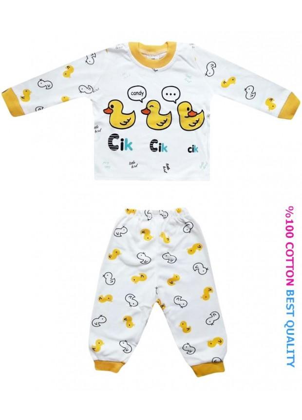 6-9-12 aylık bebek pijama takımı toptan M7