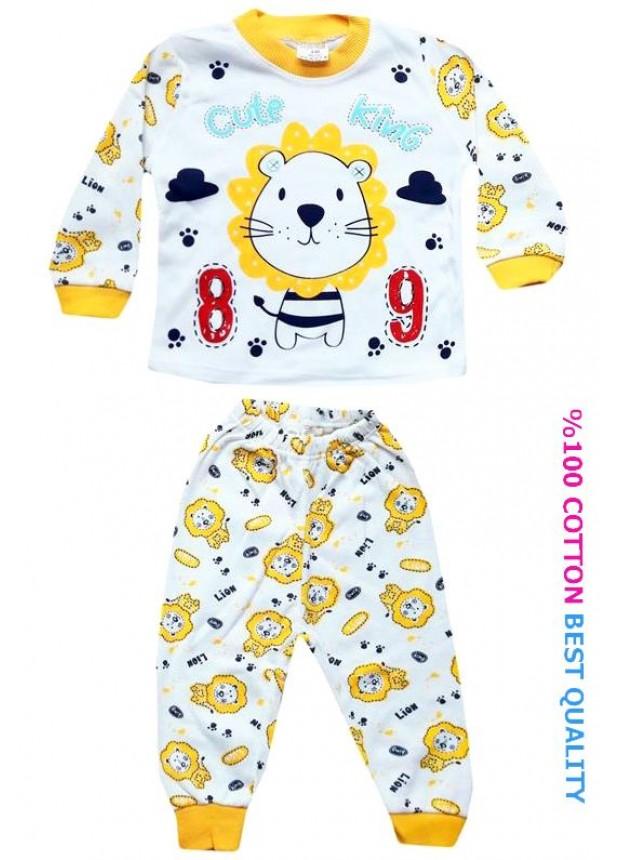 6-9-12 aylık bebek pijama takımı toptan M8