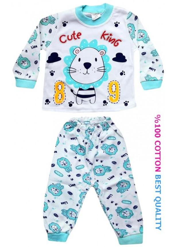 6-9-12 aylık bebek pijama takımı toptan M9