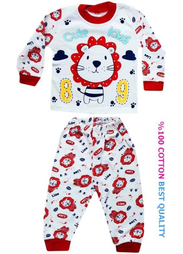 6-9-12 aylık bebek pijama takımı toptan M10