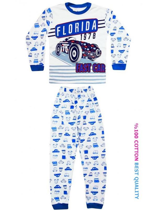7-8-9 лет детские пижамы костюм оптом флорида гоночный автомобиль с принтом