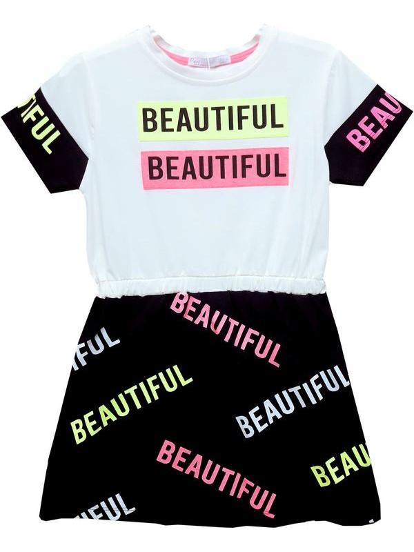 6-7-8-9 age girl tunic t-shirt dress Model4