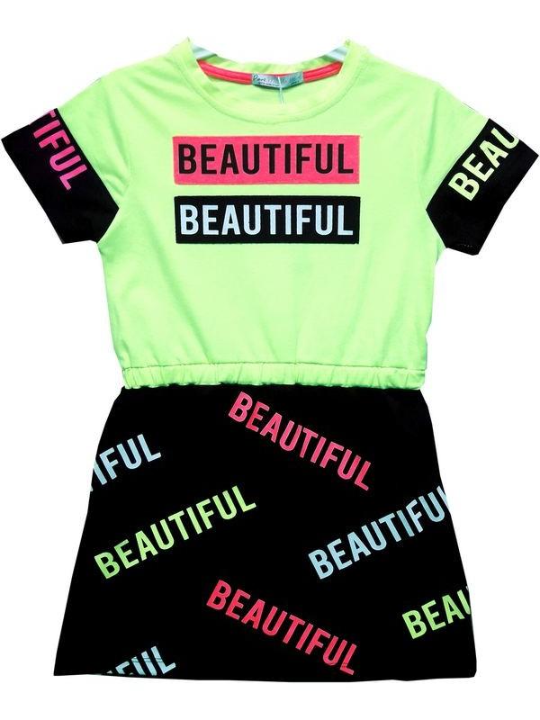 6-7-8-9 age girls tunic t-shirt dress Model3