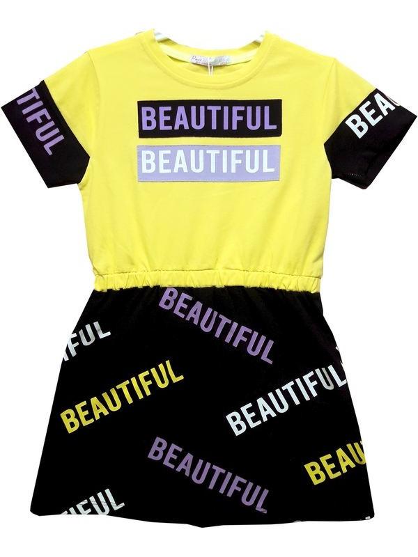 6-7-8-9 age girls tunic t-shirt dress Model2