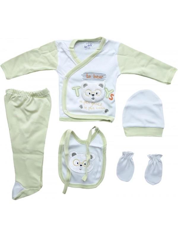 Комплект одежды для новорожденных из 100% хлопка оптом дешево M4