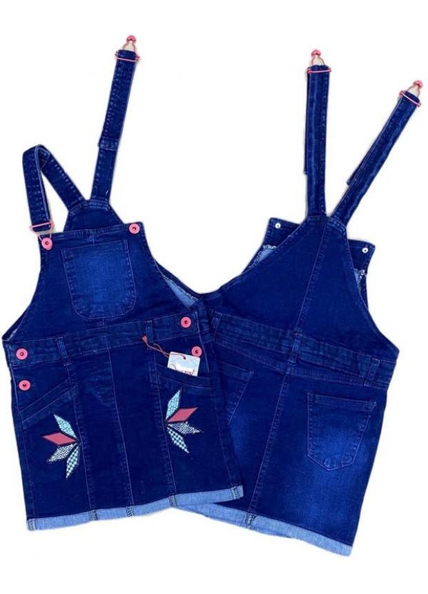 2-3-4-5-6-7-8-9 летнее платье для девочек с укороченными джинсами, джинсовое платье садовника 1M