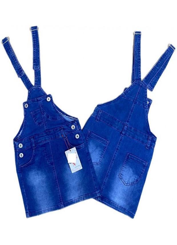 2-3-4-5-6-7-8-9 летнее платье из небрежных джинсов для девочек, джинсовое платье-садовник 3M