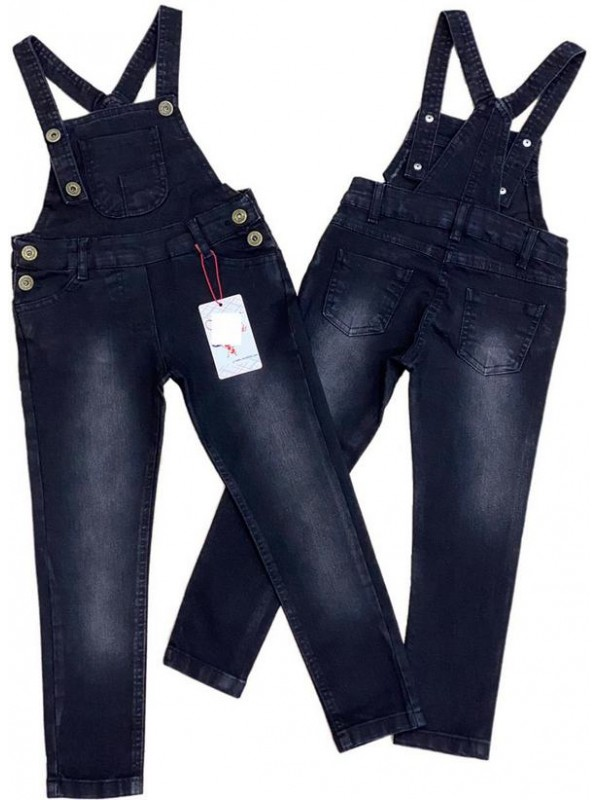 2-3-4-5-6-7-8-9-10-11-12-13 age girl slopet jeans gardener denim dress 1M