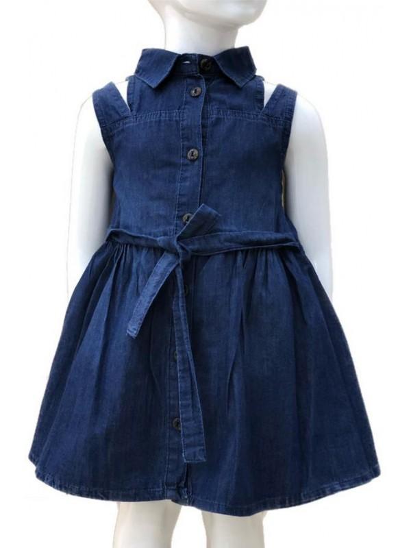 2-3-4-5-6-7-8-9-10-11-12-13 age kız kot elbise 3M