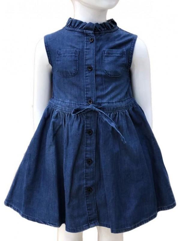 Джинсовое платье для девочек 2-3-4-5-6-7-8-9-10-11-12-13 лет 4M