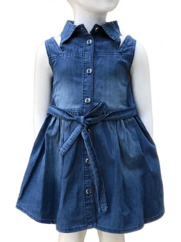 Платье из денима для девочек 2-3-4-5-6-7-8-9-10-11-12-13 лет 5M