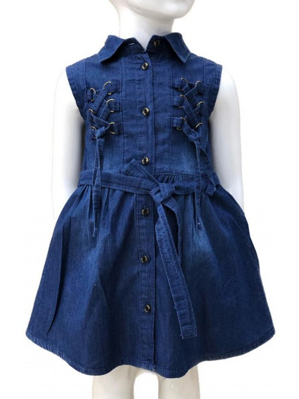 2-3-4-5-6-7-8-9-10-11-12-13 age girl denim dress 2M