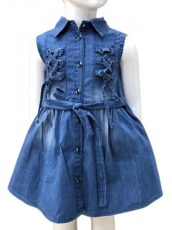 2-3-4-5-6-7-8-9-10-11-12-13 age kız kot elbise 1M
