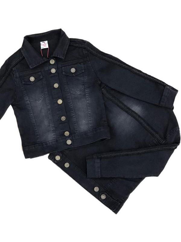 Джинсовая куртка для девочек и мальчиков 2-3-4-5-6-7-8-9-10-11-12 лет 4M