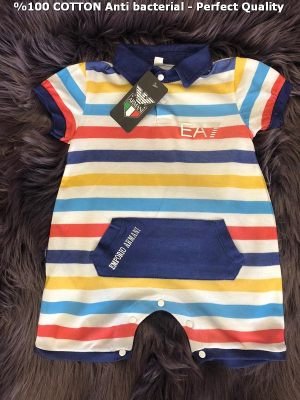 100% cotton antibacterial excellent quality baby rompers M8
